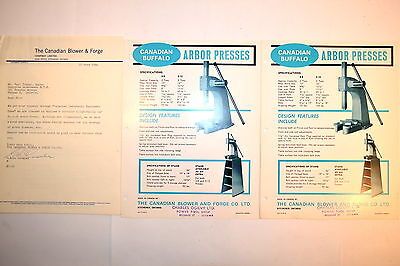 Canadian BUFFALO ARBOR PRESSES ADVERTISEMENT GROUP RR799 Nos. 2-8 3-12 machinist