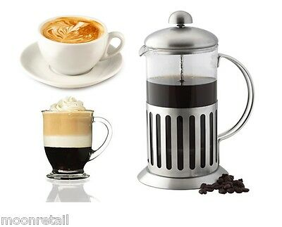Coffee Plunger Stainless Steel Glass Cafetiere French Press Filter Cafe Maker