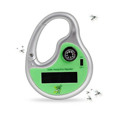 Portable Universal Outdoor Mosquito Repeller Solar Ultrasonic Insect Killer