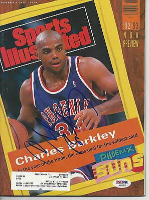 CHARLES BARKLEY (Suns) Signed SPORTS ILLUSTRATED w/ PSA/DNA COA