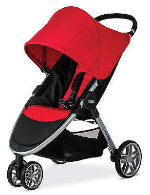 Britax 2017 B-Agile 3 Stroller in Red Brand New! Free Shipping!