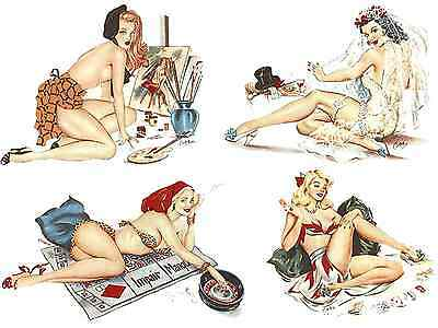 Glamour Pin Up Girls Ladies Select-A-Size Waterslide Ceramic Decals Bx