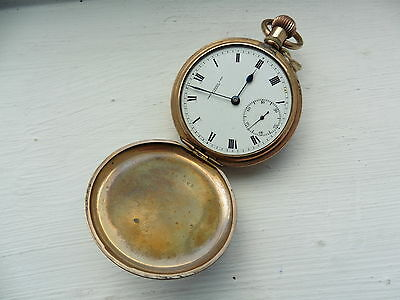 Gold Plated pocket watch Antique Vintage 1960 c spares and repairs not tested 1