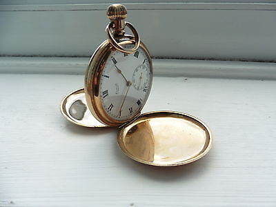 Gold Plated pocket watch Antique Vintage 1960 c spares and repairs not tested 2