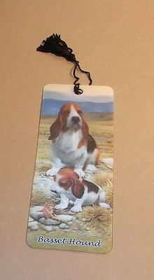 New 3D Lenticular Bookmark - BASSET HOUND - with Tassle - Image Pops Right Out