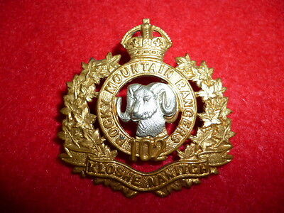MM269 - 102nd The Rocky Mountain Rangers Officer's Cap Badge - Canadian Militia