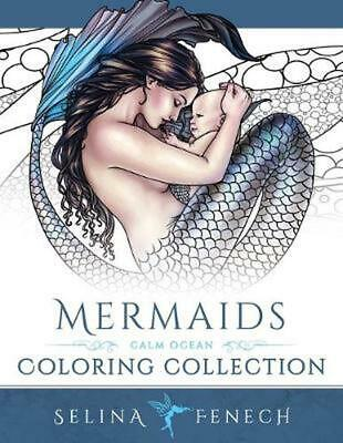 Mermaids - Calm Ocean Coloring Collection by Selina Fenech Paperback Book (Engli