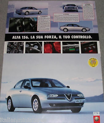 Alfa Romeo 156 Car of the Year English Language Double Sided Poster x 2