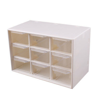 9 compartment Cabinet Craft Drawer Multi-Boxes Box Container Storage White