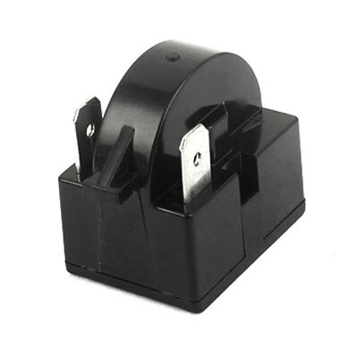 Black Plastic Shell 22 Ohm Resistance 3 Terminals Refrigerator PTC Starter Relay