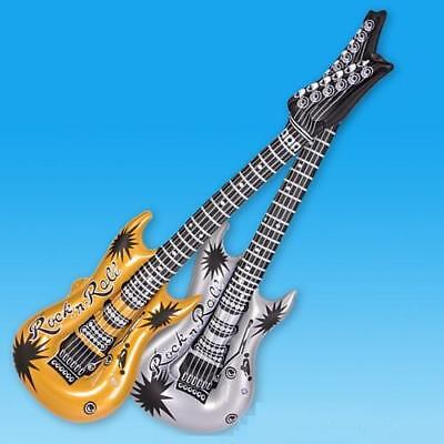 """42"""" Inflatable Gold Rock 'n' Roll Guitar Musical Instrument Karaoke Party Toy"""