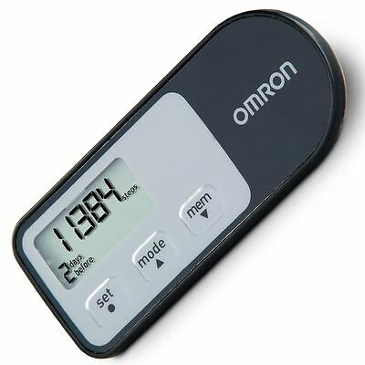 Omron HJ321-E Black Activity Fitness Monitor Tracker Pedometer Step Counter New