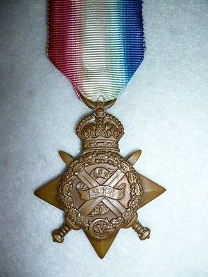 "WW1 1914 ""Mons"" Star Medal to The 3rd Bn Worcestershire Regiment, Henley"