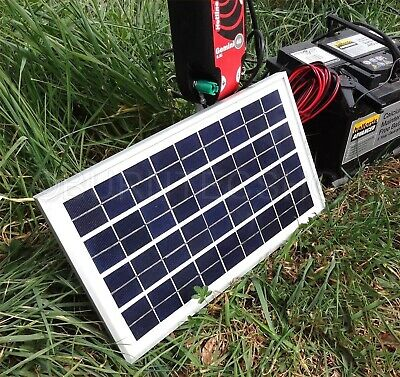 Weatherproof Solar Panel 12V Battery Charger Electric Fence Horse Energizer 2/5W