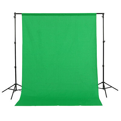 1.5m x 3m Cotton Muslin Photo Photography Backdrop Studio Background Cloth Green