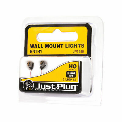 NEW Woodland Scenics Entry Wall Mount Lights HO (2) JP5655