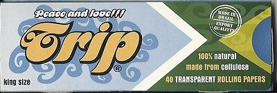 Trip Transparent Clear 100% Natural Cigarette Papers King Size 40 Count