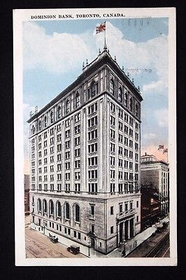 c.1925 Postcard View of the Dominion Bank, Toronto, Canada No. 108599 - Posted