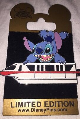 Disney Pin Stitch Red Monorail Gold Card Le 1500