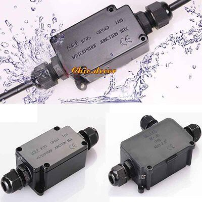 Waterproof Power Junction Box IP66 Underground Cable Line Protection Connector