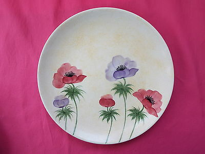 RADFORD POTTERY Art Deco Hand Painted Dinner Plate  POPPIES