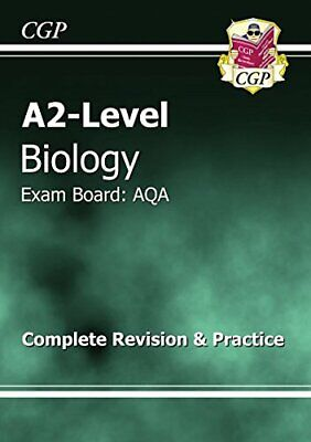 A2-Level Biology AQA Revision Guide by CGP Books Paperback Book The Cheap Fast