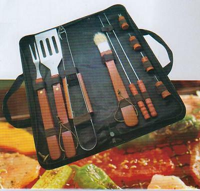 Prima 11Pc BBQ Tool Set & Bag - Stainless Steel Barbecue Cooking Utensils