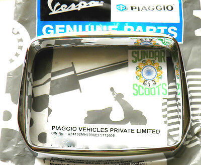 Vespa S 50 125 150 200  Headlight/lamp Rim. Genuine Piaggio Part-Chromed Plastic