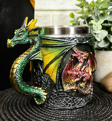Mythical Fantasy The Conception Of Fire Dragon Beer Stein Tankard Coffee Cup Mug