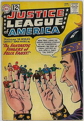 Justice League of America #10 VG/FN 1st FELIX FAUST Appearance