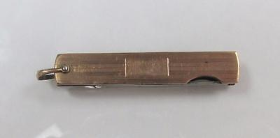 Yellow Gold Toned Pocket Knife With Blade And Nail Filer ~ 8-C8288