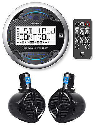 Dual MGH20 Marine Boat Digital Recevier W/iPhone/iPod Control+Wakeboard Speakers