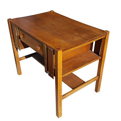 Vintage Mission Style Oak Desk and Chair (MR14859) SALE
