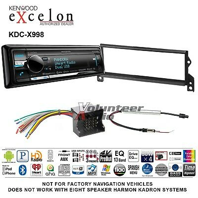 NEW KENWOOD KDC-X998 Single DIN Bluetooth CD/USB/MP3