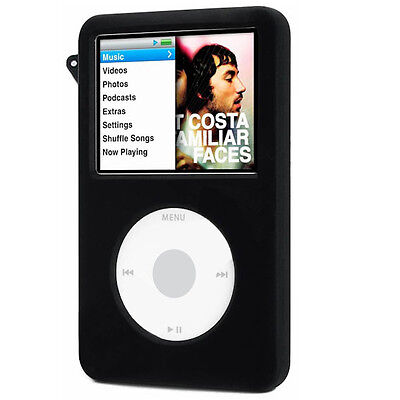 Black Soft Silicone Cover Skin Case Protection for Apple iPod Classic 80Gb 120Gb