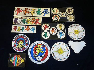 10 vintage Grateful Dead decals stickers mostly 1980's all unused & 1 Phish