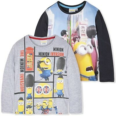 OFFICIAL MINIONS Long Sleeve Boys Pyjamas Set Top Trousers 100% Cotton NEW 2016