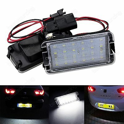 2X Canbus LED License Number Plate Light For Seat Ibiza MK III MK IV Leon 1M1 UK