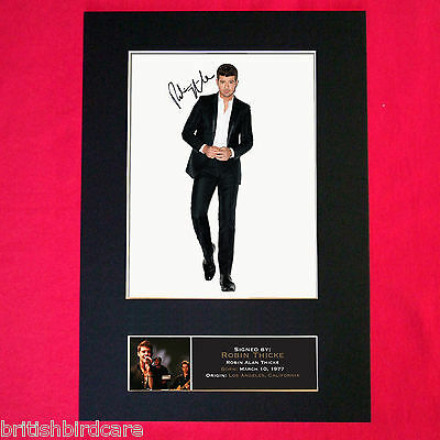 ROBIN THICKE Autograph Mounted Signed Photo RE-PRINT A4 393