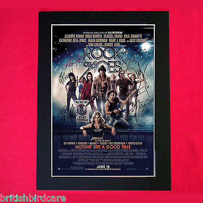 ROCK OF AGES Autograph Mounted Signed Photo RE-PRINT A4 135