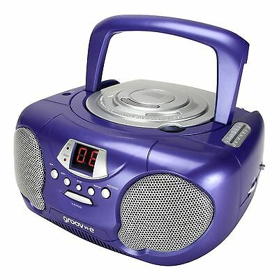 Groov-e GVPS713PE Boombox Portable CD Player with AM/FM Radio New