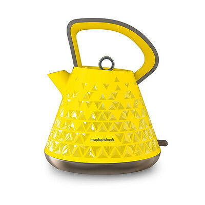 Morphy Richards 108108 Prism Cordless Kettle with 1.5L Capacity in Yellow