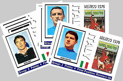 Italy - 1970 World Cup  Series 1 - Collectors Postcard Set