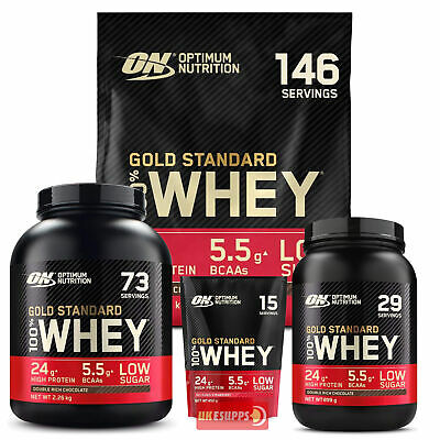 Optimum Nutrition ON Gold Standard 2lb 10lb 100% Whey Protein 5lb SALE £44.99