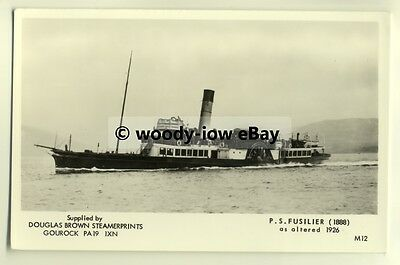 f0050 - Scottish Paddle Steamer - Fusilier - postcard
