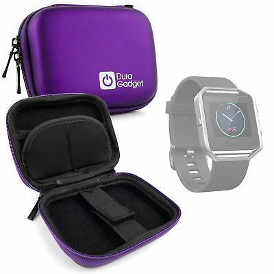 Etui housse violet pour montre Fitbit Blaze, Alta, Fossil Q Founder, Withings Go