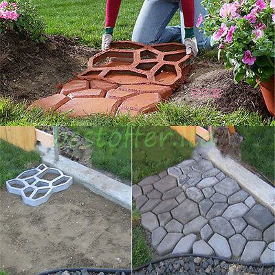 2Pcs Paving Brick Concrete Slabs Mould Driveway Pavement Patio Garden Path Tool