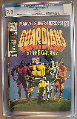 Marvel Super-Heroes #18 ORIGIN First GUARDIANS of the GALAXY 1969 CGC VF/NM 9.0