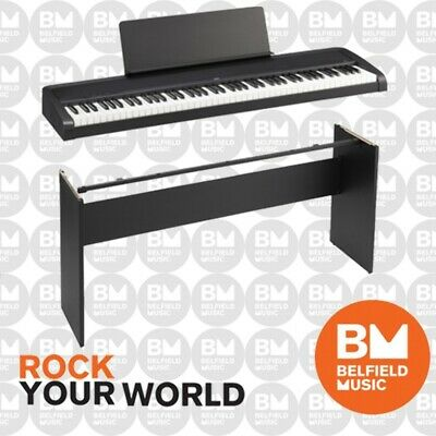 Korg B1 Digital Electric Natural Weighted Stage Concert Piano Black Wooden Stand