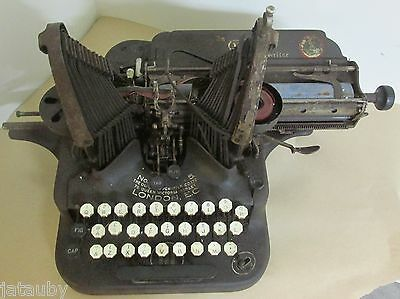 Antique OLIVER TYPEWRITER LONDON Either # 5 or 1895 Rare Canada Canadian Model